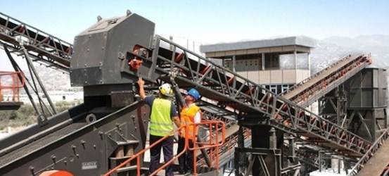 Stationary crushers and screens in quarry application